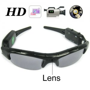 1280 x 720P 5.0MP Hidden Camera Sunglasses Eyewear DVR Support TF Card